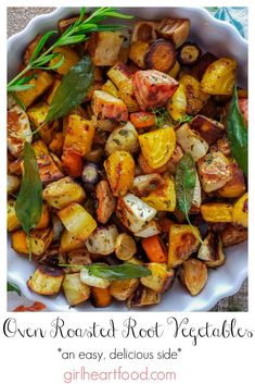 Oven Roasted Root Vegetables, Roasted Vegetable Recipes, Root Veggies, Herb Recipes, Side Dish Recipes, Veggie Recipes, Healthy Recipes, Barbecue Recipes, Grilled Vegetables