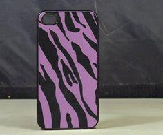 Purple Black Zebra Print Iphone 4 /4s Black, $7.99