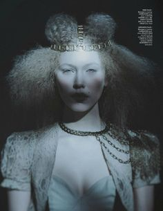 "MOD Magazine - March 2013 ""Winter Moon""    LaKrause Tarnished Gold Headpiece  Makeup/Hair/Nails: Delia Lupan Judy Inc  Styling: Joanna Plisko Red Fashion Styling   Model: Bryanna @Spot6Management   Photography Assistant: Alex Boyd   Photography: Mike Lewis — with Bryanna Johnson."