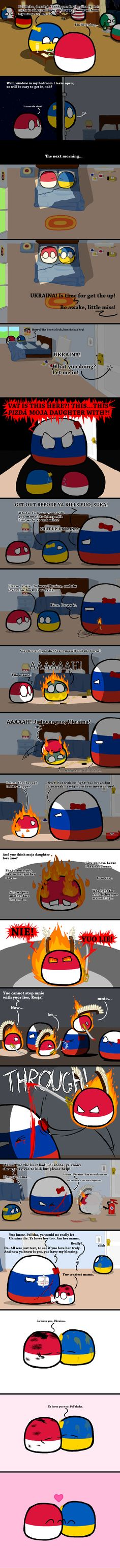 """Love in the Time of Mother Russia"" by aureisyourfriend in polandball"
