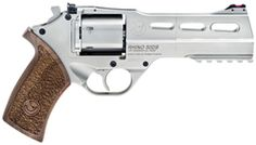 The Chiappa Rhino has a beautiful design to fire from the bottom of the cylinder and minimize muzzle flip.