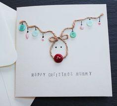 Carte Noël - carte de Noël renne - pour maman, papa, professeur, sœur, frère, femme, mari ou un nom