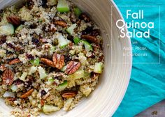 My sister in law made this salad and it was SO good!  I can't wait to try it myself.  Quinoa-Salad-Apple-Pecan