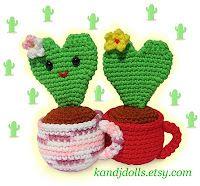 Valentine Heart Cactus, free Amigurumi crochet pattern