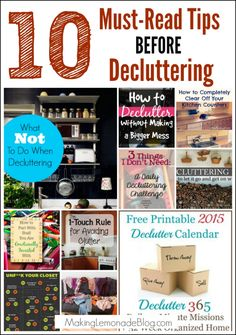 10 Must-Read Tips BEFORE Decluttering-- STOP! Put down the trash bag. Here's 10 things to keep in mind while decluttering to make the process go faster AND be more productive. Read it before you tackle your organizing to-do list and save yourself the stress!