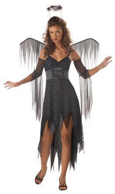 Black Angel Halloween Costume for Teens