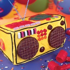 We've rounded up 106 creative birthday cake ideas to make your kid's birthday the best ever! Box Cake Recipes, Dessert Recipes, Party Recipes, Baking Recipes, Desserts, Easy Kids Birthday Cakes, Birthday Ideas, Dance Party Birthday, Dj Party