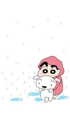 Having fun in rain with sherow😀😀😀 Sinchan Wallpaper, Disney Phone Wallpaper, Cute Wallpaper For Phone, Kawaii Wallpaper, Crayon Shin Chan, Doraemon Wallpapers, Joker Wallpapers, Cute Cartoon Wallpapers, Sinchan Cartoon