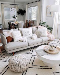 Oh I'd stay home all the time. Are you a fan of gray couches? 🖤 #livingroomgoals #livivngroomideas #livingroomdesign Home Living Room, Apartment Living, Living Room Designs, Living Room Furniture, Living Room Decor, Beige Sofa Living Room, Bedroom Decor, Beige Couch Decor, Ikea Sofa
