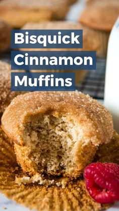 Melt-in-Your-Mouth Bisquick Cinnamon Muffins Mix up a quick batch of Bisquick cinnamon muffins, dipped in butter and cinnamon sugar. Simple and easy, melt-in-your-mouth, breakfast and brunch recipe!