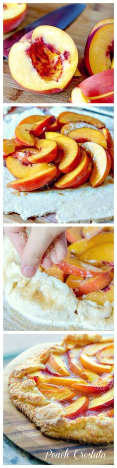 Rustic #PeachTart - Remins you of those days on the #farm. #tbt