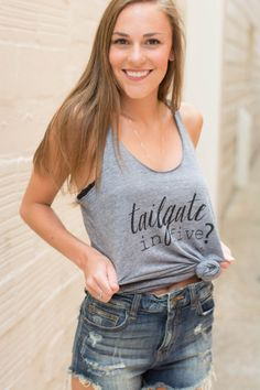 tailgate in five? Racerback Tank ($34.00)