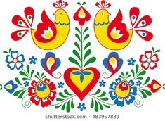 Find Moravian Folk Ornament stock images in HD and millions of other royalty-free stock photos, illustrations and vectors in the Shutterstock collection. Thousands of new, high-quality pictures added every day. Folk Art Flowers, Flower Art, Folk Embroidery, Embroidery Patterns, Bordado Popular, Tattoos To Cover Scars, Polish Folk Art, African Crafts, Russian Folk