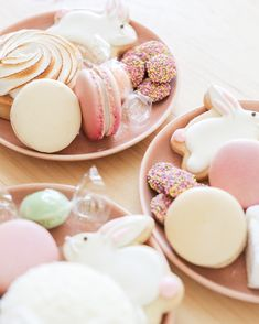 This Charming Easter Party is All About Pretty-in-Pastel Desserts | Martha Stewart Living - Creating a charming Easter dessert bar doesn't have to be stressful — just keep it easy, colorful with Easter pastels and be creative!