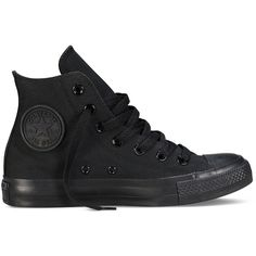 AmazonSmile: Converse Unisex Chuck Taylor All Star Hi Black Monochrome... (165 RON) ❤ liked on Polyvore featuring shoes, black shoes, kohl shoes, monochrome shoes, converse footwear and star shoes