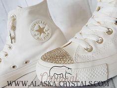 04fa02ff0974 Unisex Wedding Converse Custom Shoes Converse Swarovski Wedding Converse