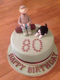 80th Birthday Cake Farmer Cake