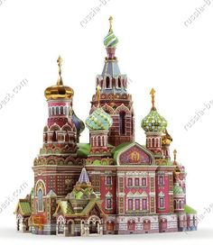 Cathedral of the Resurrection of Christ Paper Model Kit