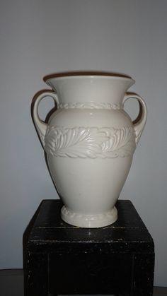 white abingdon pottery vase by nuevofarmhome on Etsy, $20.00