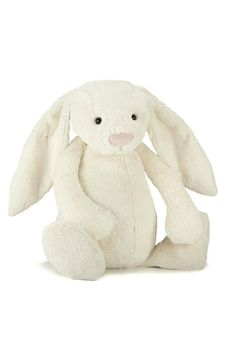 "Our bashful bunny is so plush and cuddly we nicknamed him ""Flopsie"". The perfect snuggle bunny.Flopsie bunny will certainly put a smile on anyone!  Measures 15""h  Bashful Bunny Home & Gifts - Gifts - Gifts by Occasion New York City"