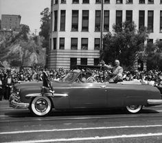 From LAPL: Harry Truman visits Los Angeles in 1948.