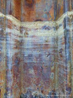 Seafoam Tidemark on Rusty Iron 6 Rust Paint, Sea Foam, Decay, Iron, Colours, Texture, Decoration, Pattern, Painting