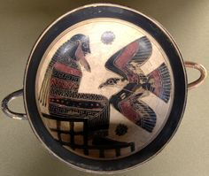 Ancient Greek black figure pottery - especially love the bird!