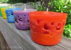 I remember making these as kids--there was one we made where we whipped the wax so it looked like snow--just on the outside I think...