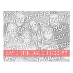 Light Coral Band Photo Save the Date Postcard