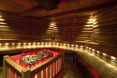 """Using a sauna can provide many health benefits."""" Learn the dangers of sauna use. Traditional Saunas, Traditional Exterior, Rustic Saunas, Exterior Design, Interior And Exterior, Sauna Lights, Sauna Benefits, Health Benefits, Dream Gym"""