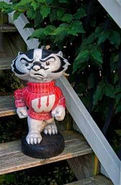 "University of Wisconsin ""Bucky Badger"" College Mascot - Painted Finish"