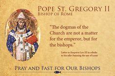Pope St. Gregory II, Bishop of Rome #catholic