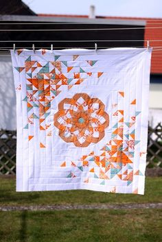 GORGEOUS hst quilt by Joanna at Shape Moth (apr 17, 2012)