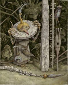 """modern-faerie-tales:""""Trolls Artwork"""" by Brian Froud. Trolls Exhibition"""