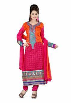 #Fabdealdotcom #Indian #Designer #Pure #Georgette #Magenta & #Orange #Embroidered #Salwar Fabdeal, http://www.amazon.co.uk/dp/B00IRB7CFU/ref=cm_sw_r_pi_dp_pa7rtb0ESHKJW