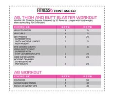 Justine Munro's Ab, Thigh & butt workout (fitnessrx)