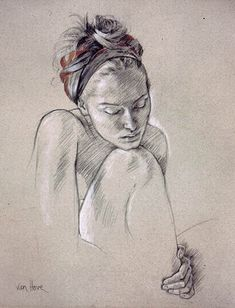 Artist: Francine Van Hove #figurative #pencil #art