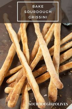 Check out this easy recipe for sourdough grissini. Perfect as an apferitif or side dish for any Italian food. Sourdough Bread Starter, Sourdough Pancakes, Sourdough Recipes, Bread Recipes, Baking Recipes, Starter Recipes, Sourdough Pretzel Recipe, Pretzel Bread, Baking Hacks