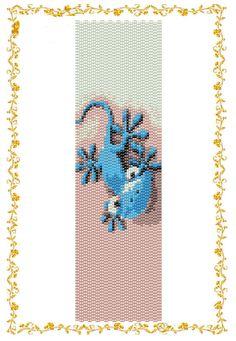 Odd count by DiushesPatterns Peyote Beading Patterns, Peyote Stitch Patterns, Beaded Bracelet Patterns, Woven Bracelets, Seed Bead Bracelets, Loom Patterns, Loom Beading, Blue Lizard, Peyote Bracelet