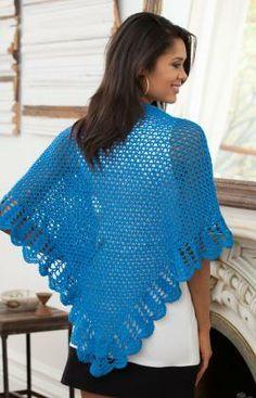 V-Stitch & Scallop Shawl Free Pattern from Aunt Lydia's Crochet Thread