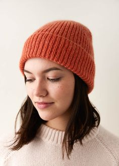 Ravelry: Classic Ribbed Hat pattern by Purl Soho knit hat patterns Classic Ribbed Hat Knitting Terms, Easy Knitting, Knitting Abbreviations, Kids Knitting, Purl Soho, Yarn Store, Purl Stitch, Knitted Hats, Beanie Knitting Patterns Free