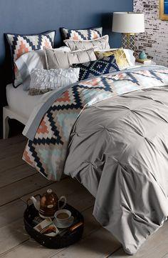 Blissliving Home 'Harper - Grey' Cotton Sateen Duvet Cover & Shams (Online Only)