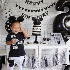 Spill the Beans Etc Co Handmade Personalized Mom Shirts + Baby Clothes Mickey First Birthday, 1 Year Old Birthday Party, 2nd Birthday Party Themes, Baby Boy 1st Birthday, 1st Boy Birthday, Boy Birthday Parties, Birthday Shirts, Birthday Ideas, Mickey Mouse Theme Party