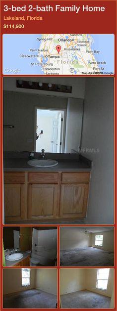 3-bed 2-bath Family Home in Lakeland, Florida ►$114,900 #PropertyForSaleFlorida http://florida-magic.com/properties/67111-family-home-for-sale-in-lakeland-florida-with-3-bedroom-2-bathroom