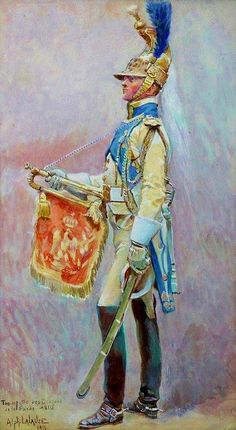 Tromba dei dragoni dell'imperatrice della guardia imperiale francese - Alphonse Lalauze