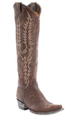 Old Gringo® Women's Mayra Distressed Brass Tall Snip Toe Western Fashion Boots