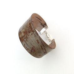 Birch bark cuff bracelet Redwood by bettula on Etsy, $40.00