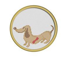 Contented Dachshund. PDF Cross Stitch Pattern. $4.00, via Etsy.