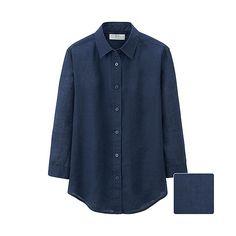 WOMEN Premium Linen 3/4 Sleeve Shirt