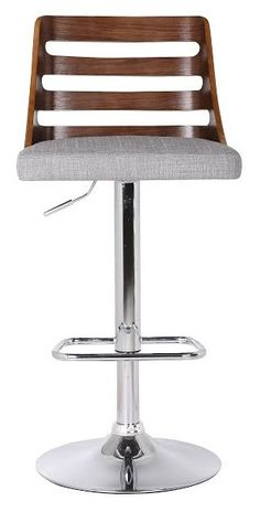 Features: -Gas piston lift provides adjustable height. -Material: Polyurethane foam padding and chrome-plated steel base. -Protective plastic ring on base bottom. Frame Material: -Wood. Frame Fin